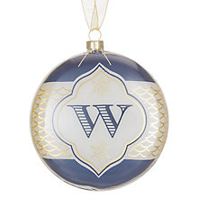 Buy John Lewis Monogram Bauble, A - Y Online at johnlewis.com