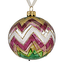 Buy John Lewis Shangri-La Zigzag Bauble Online at johnlewis.com