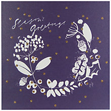 Buy John Lewis Season's Greetings Charity Christmas Cards, Pack of 6, Navy Online at johnlewis.com