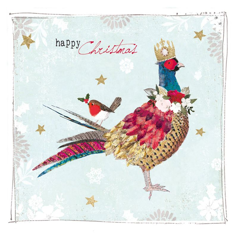 Hammond Gower Hammond Gower Pheasant In Crown Charity Christmas Cards, Pack of 5