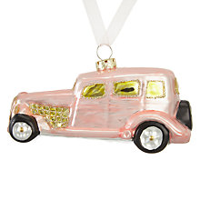 Buy John Lewis Ostravia Car Bauble, Pink Online at johnlewis.com