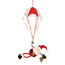 Buy John Lewis Grand Tour Parachuting Santa Tree Decoration Online at johnlewis.com