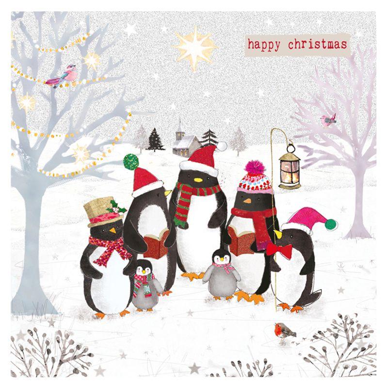Hammond Gower Hammond Gower Penguins Carols Charity Christmas Cards, Pack of 5