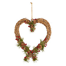 Buy John Lewis Ruskin House Pine Cone Heart Wreath Online at johnlewis.com