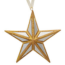 Buy John Lewis Ruskin House Mirrored Star Bauble Online at johnlewis.com