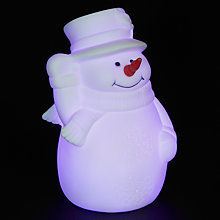 Buy John Lewis Morphing White Snowman With Top Hat Light Online at johnlewis.com