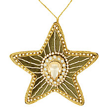 Buy Tinker Tailor Ruskin House Moss Velvet Gem Star Tree Decoration Online at johnlewis.com