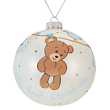 Buy John Lewis 'My 1st Christmas' Teddy Bauble Online at johnlewis.com