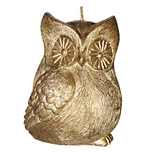 Buy John Lewis Ruskin House Owl Candle Online at johnlewis.com