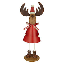 Buy John Lewis Chamonix Mrs Clause Reindeer Decoration Online at johnlewis.com