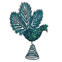 Buy John Lewis Shangri-La Patricia Peacock Tree Topper Online at johnlewis.com