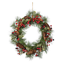 Buy John Lewis Ruskin House Pinecone & Berry Wreath Online at johnlewis.com