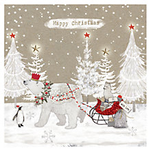 Buy Hammond Gower Polar Bear & Sleigh Charity Christmas Cards, Pack of 5 Online at johnlewis.com