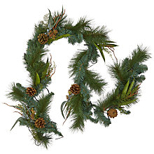 Buy John Lewis Snowshill Pre-lit LED Eucalyptus & Pinecone Garland Online at johnlewis.com