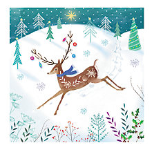 Buy Almanac Pretty Deer Charity Christmas Cards, Pack of 8 Online at johnlewis.com