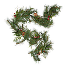 Buy John Lewis Ruskin House Pre-lit Twig Berry & Cone Garland Online at johnlewis.com