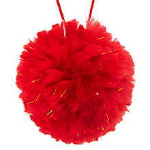 Buy John Lewis Grand Tour Pom Pom Tree Decoration Online at johnlewis.com