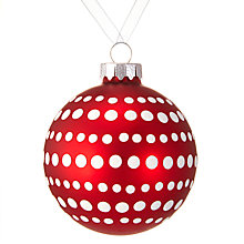Buy John Lewis Chamonix Polka Dot Bauble, Red / White Online at johnlewis.com