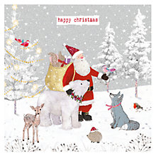 Buy Hammond Gower Santa's Animal Friends Charity Christmas Cards, Pack of 5 Online at johnlewis.com