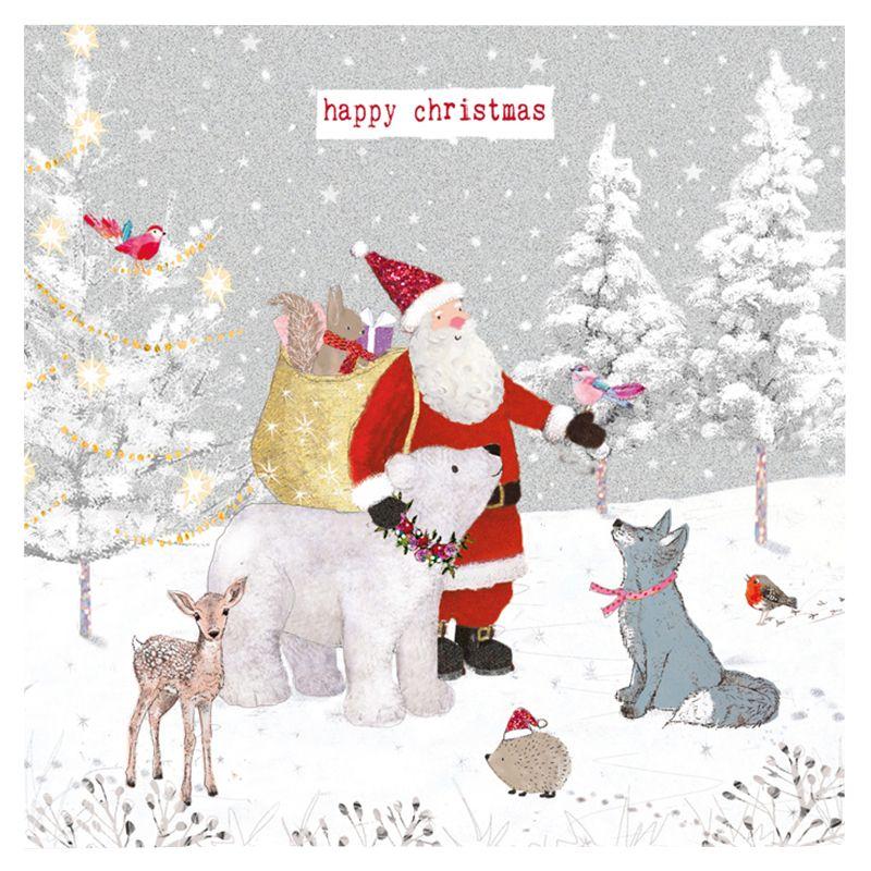 Hammond Gower Hammond Gower Santa's Animal Friends Charity Christmas Cards, Pack of 5