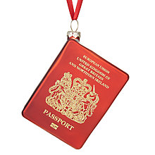 Buy John Lewis Tourism Passport Bauble, Red Online at johnlewis.com
