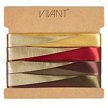 Buy VIVANT Ruskin House 'Seta D'oro' Gift Ribbon, Pack of 4 Online at johnlewis.com
