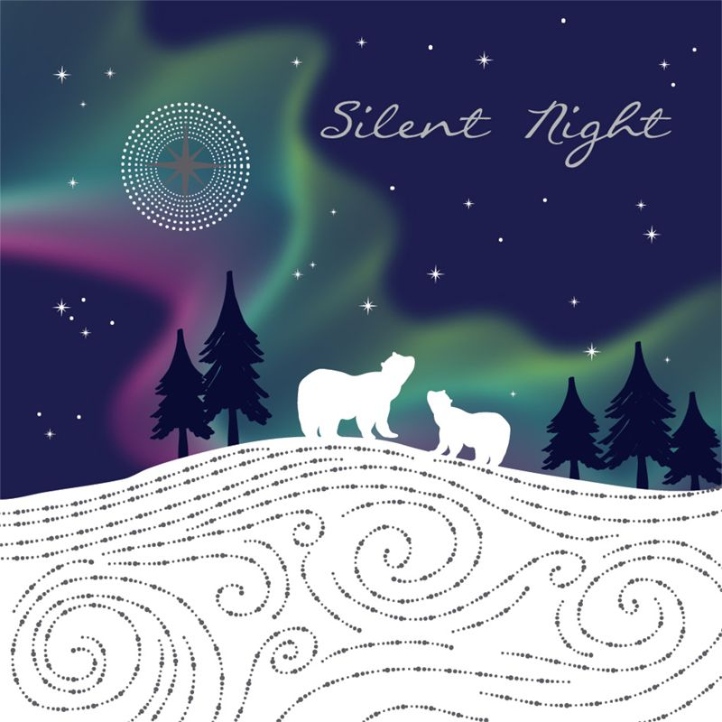 Art File Art File Silent Night Charity Christmas Cards, Pack of 6