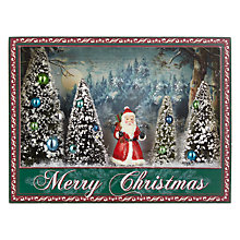 Buy John Lewis Ruskin House Santa Scene Light Box Online at johnlewis.com