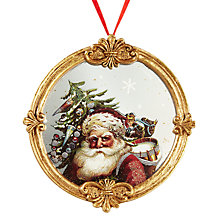 Buy John Lewis Ruskin House Santas Portrait Bauble Online at johnlewis.com