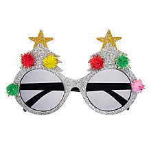 Buy John Lewis Pom Pom Novelty Glasses, Silver Online at johnlewis.com