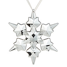 Buy John Lewis Helsinki Snowflake Tree Decoration Online at johnlewis.com