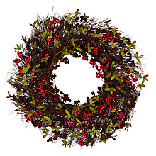 Buy John Lewis Ruskin House Premium Blackberry Wreath Online at johnlewis.com