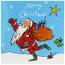 Buy Woodmansterne Quentin Santa Charity Christmas Cards, Pack of 5 Online at johnlewis.com