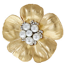 Buy John Lewis Ostravia Ranunculus Tree Clip, Gold Online at johnlewis.com