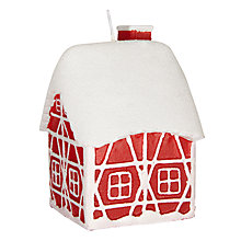 Buy John Lewis Chamonix House Candle, Red Online at johnlewis.com