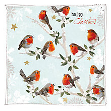 Buy Hammond Gower Robins In A Tree Charity Christmas Cards, Pack of 5 Online at johnlewis.com