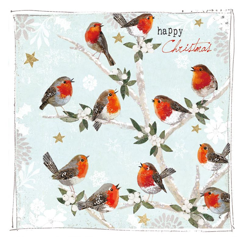 Hammond Gower Hammond Gower Robins In A Tree Charity Christmas Cards, Pack of 5