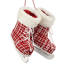 Buy John Lewis Chamonix Skate Tree Decoration, Red Online at johnlewis.com