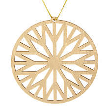 Buy John Lewis Helsinki Round Wheel Tree Decoration Online at johnlewis.com