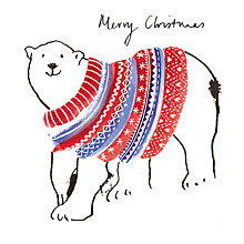 Buy Museums And Galleries Polar Bear Charity Christmas Cards, Pack of 8 Online at johnlewis.com