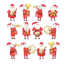 Buy Almanac Santa's Band Charity Christmas Cards, Pack of 8 Online at johnlewis.com