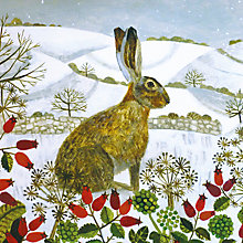 Buy Museums And Galleries Seated Hare In The Snow Charity Christmas Cards, Pack of 5 Online at johnlewis.com