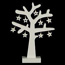 Buy John Lewis Wooden Tree With Stars, Small Online at johnlewis.com