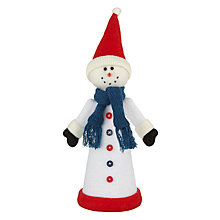 Buy John Lewis Grand Tour Snowman Tree Topper Online at johnlewis.com