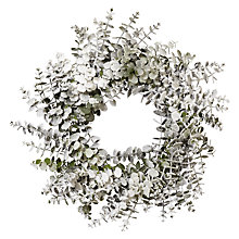 Buy John Lewis Snowshill Snowy Eucalyptus Christmas Wreath Online at johnlewis.com