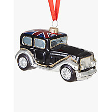 Buy John Lewis Tourism Union Jack Classic Car Bauble Online at johnlewis.com