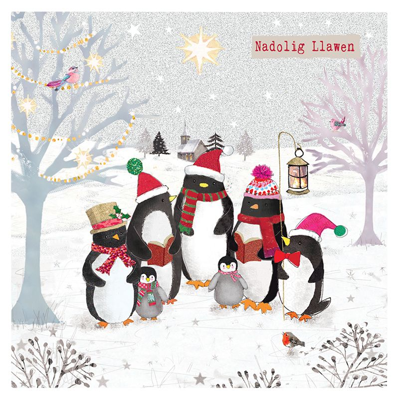 Hammond Gower Hammond Gower Welsh Penguin Gathering Charity Christmas Cards, Pack of 5