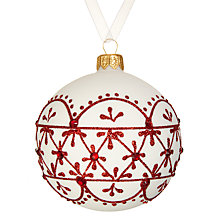 Buy John Lewis Chamonix Glitter Bauble Online at johnlewis.com