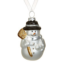 Buy John Lewis Smiley Snowman Bauble Online at johnlewis.com