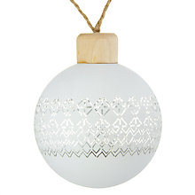 Buy John Lewis Helsinki Etched Bauble Online at johnlewis.com